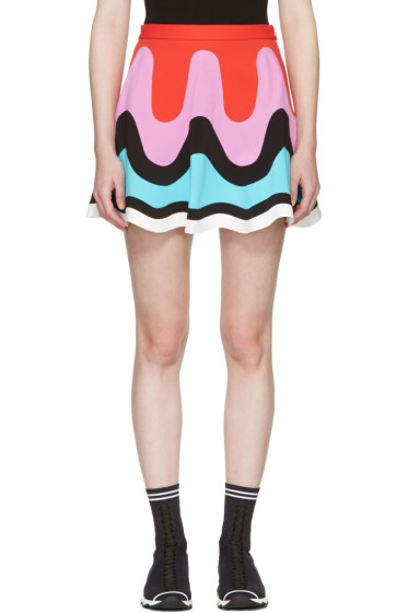 Emilio Pucci - Multicolor Colorblock Wave Miniskirt