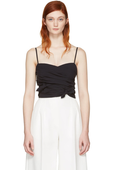 Emilio Pucci - Black Cropped Tank Top