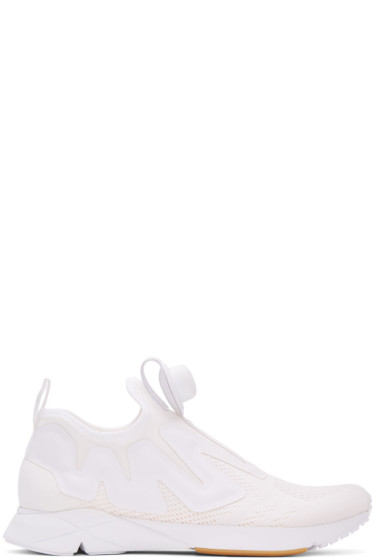 Reebok Classics - White Pump Supreme Engine Sneakers