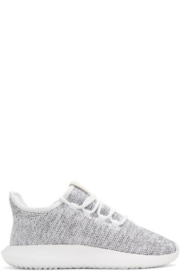 adidas Originals - White Knit Tubular Shadow Sneakers