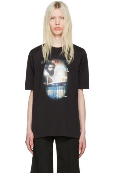 Wales Bonner - Black Haile Selassie T-Shirt