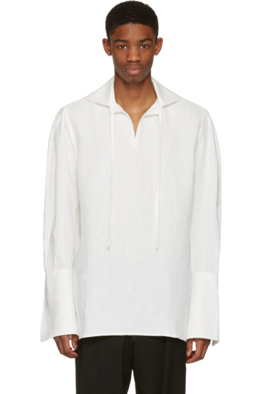 Wales Bonner - Ivory Raf Tie Shirt