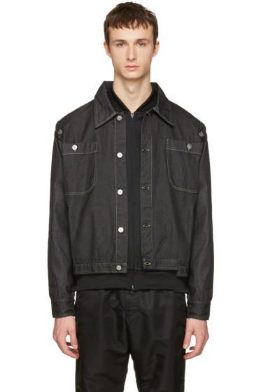 Telfar - Black Convertible Denim Jacket