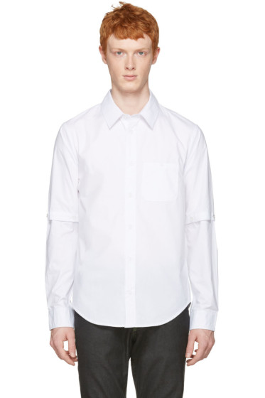Telfar - White Detachable Sleeves Shirt
