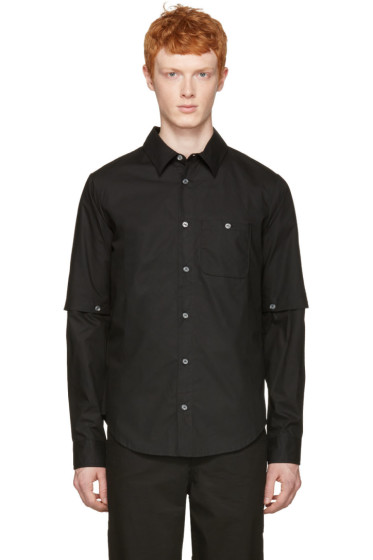 Telfar - Black Detachable Sleeve Shirt