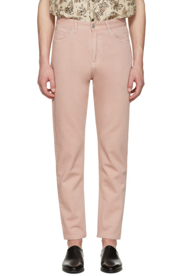 CMMN SWDN - Pink Maxime Crop Jeans