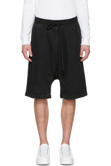 UEG - Black Denim 'Finis Europae' Shorts