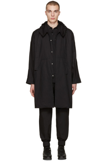 Phoebe English - Black Hooded Trench Coat