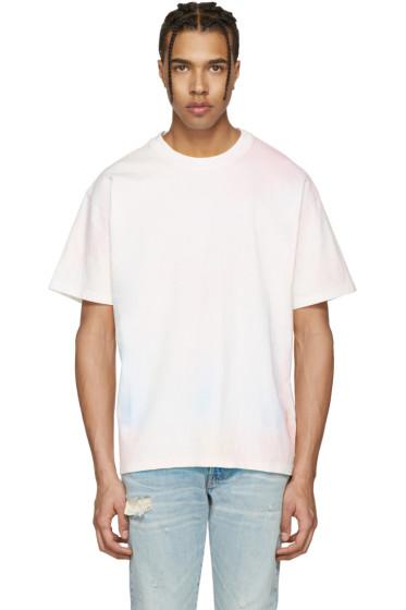 John Elliott - Multicolor Oversized Cropped Tie-Dye T-Shirt