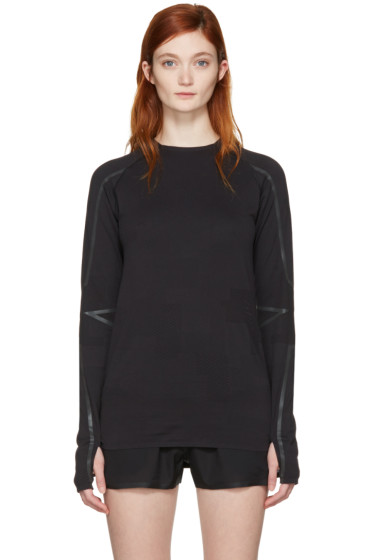 Y-3 SPORT - Black Fine Knit T-Shirt
