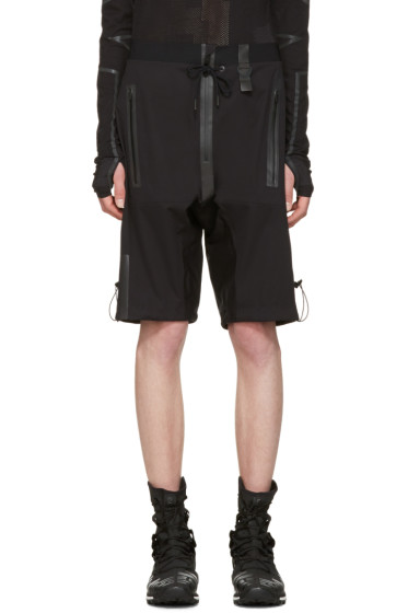 Y-3 SPORT - Black Rain Zip Shorts