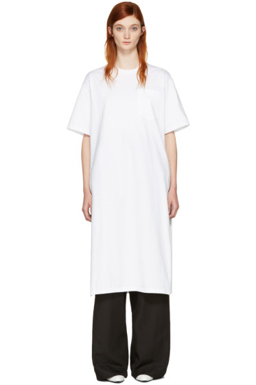 Hyke - White Pocket T-Shirt Dress