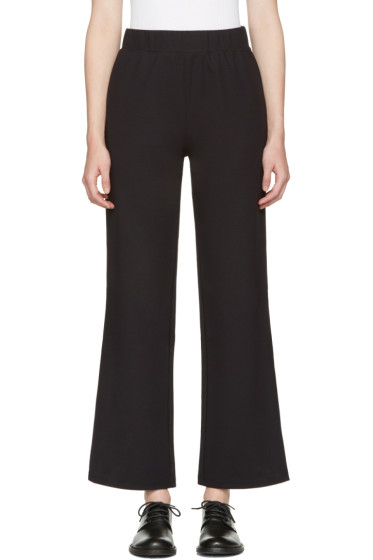 Hyke - Navy Band Wide Trousers