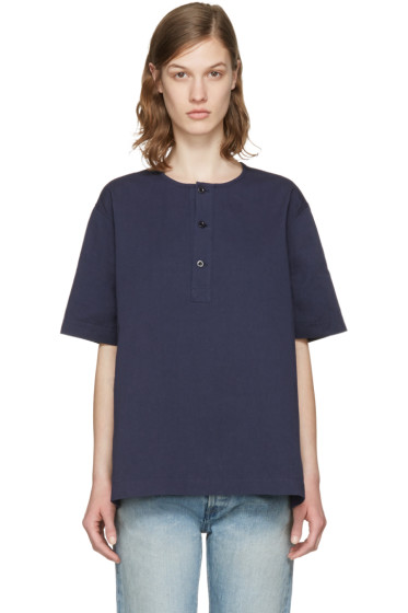 Chimala - Navy Big Blouse