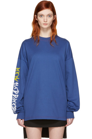 Alyx - Blue 'New Happiness' Long Sleeve T-Shirt