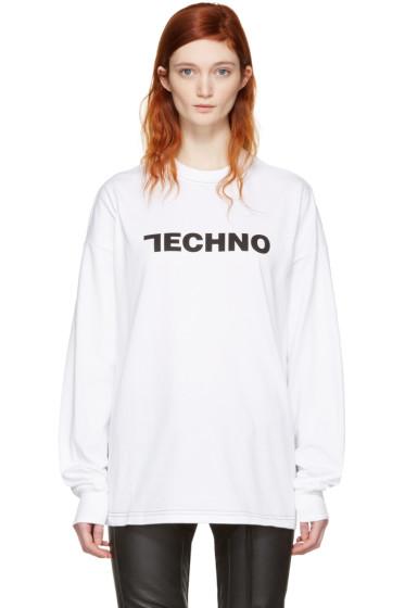 Alyx - White 'Techno' Long Sleeve T-Shirt