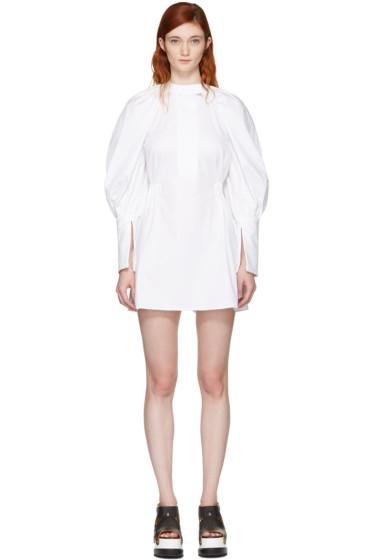 Ellery - White Medusa Bubble Sleeve Shirt Dress
