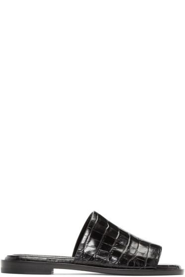 Ellery - Black Funplex Slide Sandals