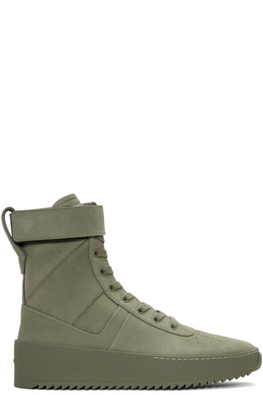 Fear of God - Green Military High-Top Sneakers