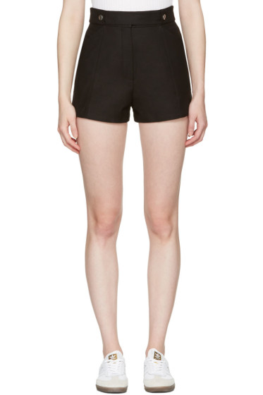 Courrèges - Black Button Belt Shorts