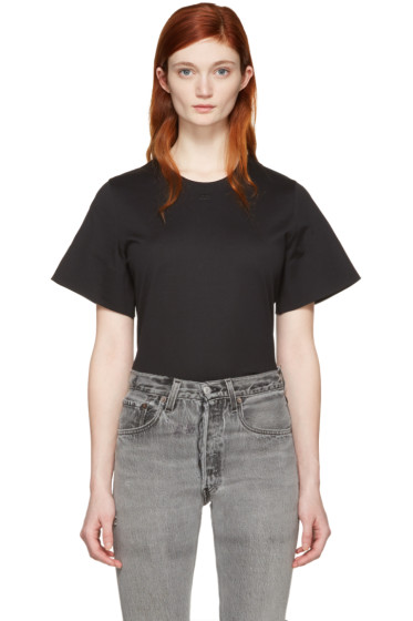Courrèges - Black Crewneck T-Shirt