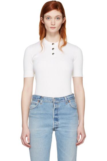Courrèges - White Classic Button Pullover