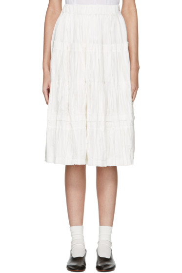 Sara Lanzi - Off-White Panel Skirt