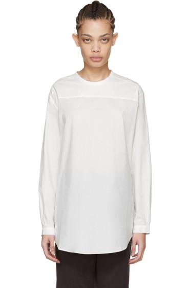 Sara Lanzi - White Oversized Poplin Blouse