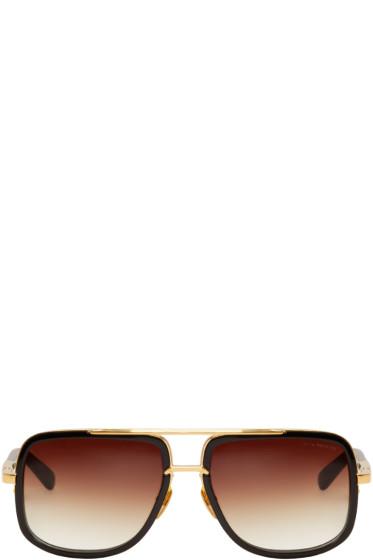Dita - Black Mach-One Aviator Sunglasses