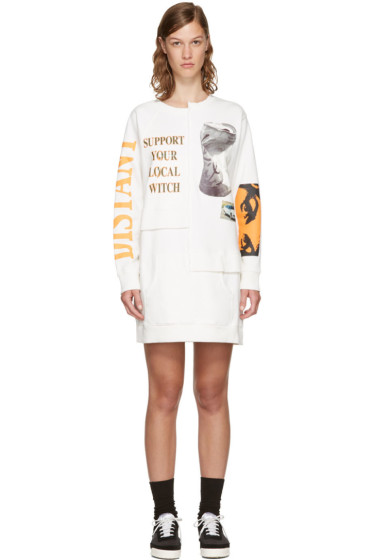 Perks and Mini - Off-White Oversized Picket Sweater Dress