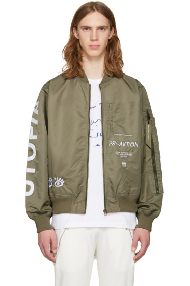 Perks and Mini - Green Utopiates Bomber Jacket