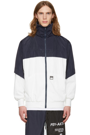 Perks and Mini - White & Navy 'Psy-Aktion' Jacket