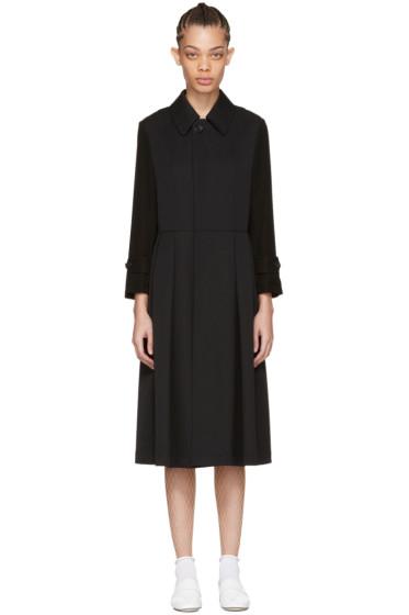 Tricot Comme des Garçons - Black Wool & Crepe Coat
