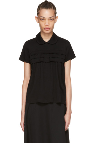 Tricot Comme des Garçons - Black Layered Ruffle Polo