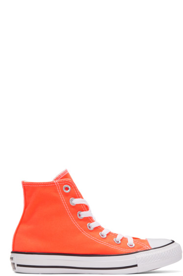 Converse - Orange Classic Chuck Taylor All Star OX High-Top Sneakers