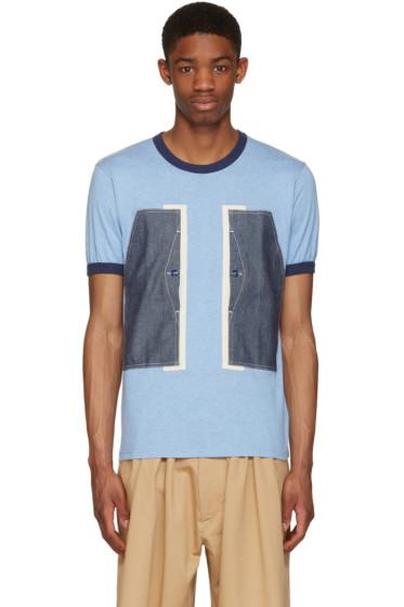 Ganryu - Blue Pocket Ringer T-Shirt