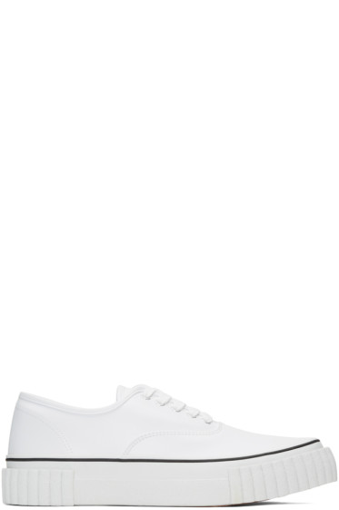 Ganryu - White Textured Sole Sneakers