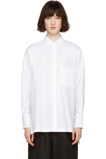 Nehera - White Oversized Poplin Shirt