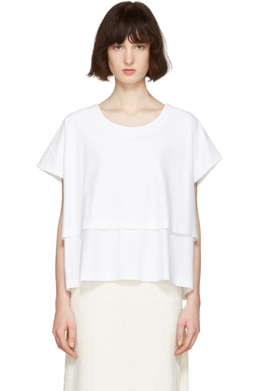 Nehera - White Two-Layered T-Shirt
