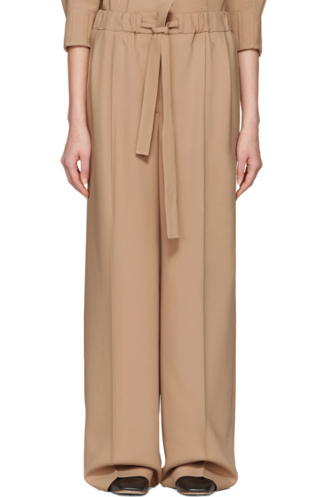 Cyclas - Beige Belted Trousers