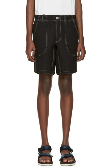 and Wander - Black Contrast Stitch Shorts