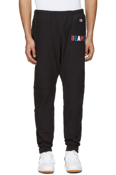 Champion x Beams - Black Logo Lounge Pants