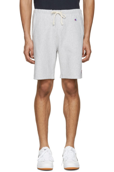 Champion x Beams - Grey Logo Shorts