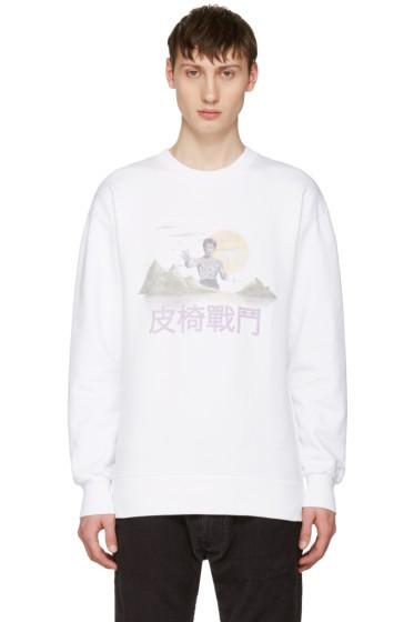 Han Kjobenhavn - White Casual Crew Sweatshirt