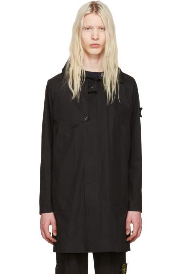 Stone Island - Black Zip-Up Coat