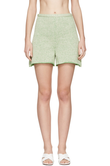 Eckhaus Latta - Green Knit Shorts