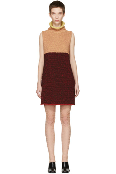 Eckhaus Latta - Multicolor Knit Open Back Dress