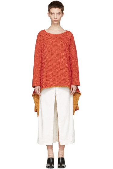 Eckhaus Latta - Red Tie Back Sweater
