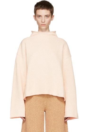 Eckhaus Latta - Off-White Funnel Neck Sweater