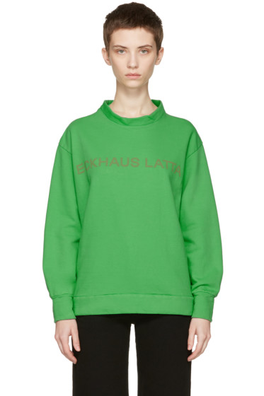 Eckhaus Latta - Green Logo Sweatshirt